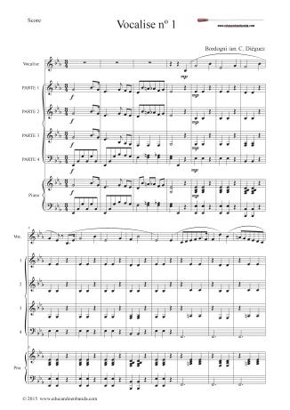 VOCALISE 1. SCORE Y PARTES